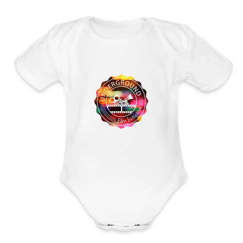 Underground_Film_Initiative_Logo_Colour_Pop_Bokeh - Organic Short Sleeve Baby Bodysuit