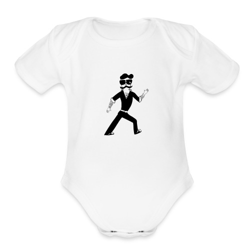 The Famous Mr Warrior - Organic Short Sleeve Baby Bodysuit