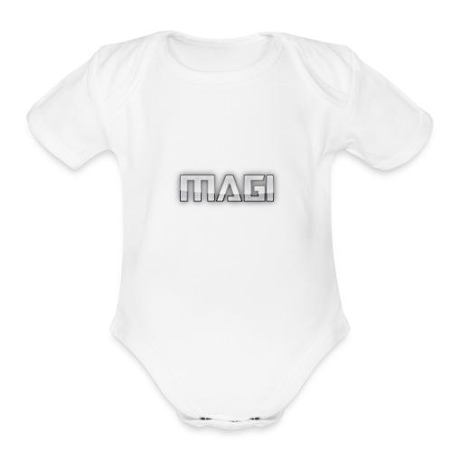 magi - Organic Short Sleeve Baby Bodysuit