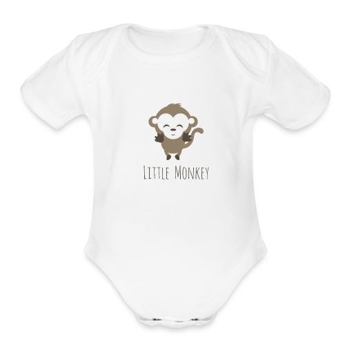 Little Monkey - Organic Short Sleeve Baby Bodysuit