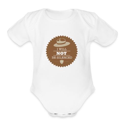 Not be Silenced - Organic Short Sleeve Baby Bodysuit