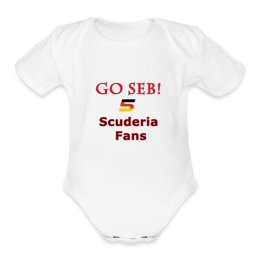 Go Seb! Scuderia Fans design - Organic Short Sleeve Baby Bodysuit