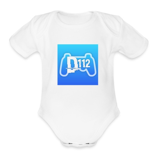 D112gaming logo - Organic Short Sleeve Baby Bodysuit