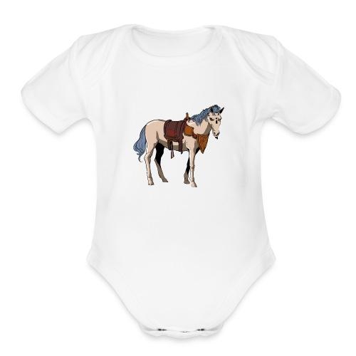 Useless the Horse png - Organic Short Sleeve Baby Bodysuit