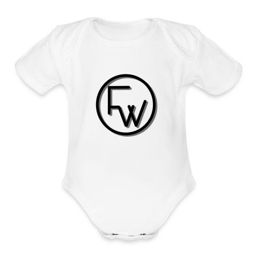 A Funny Wilson Production Black Logo - Organic Short Sleeve Baby Bodysuit