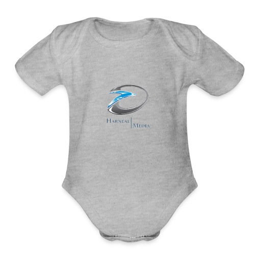 Harneal Media Logo Products - Organic Short Sleeve Baby Bodysuit