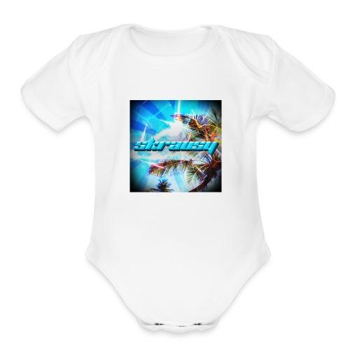 Skrausy - Organic Short Sleeve Baby Bodysuit