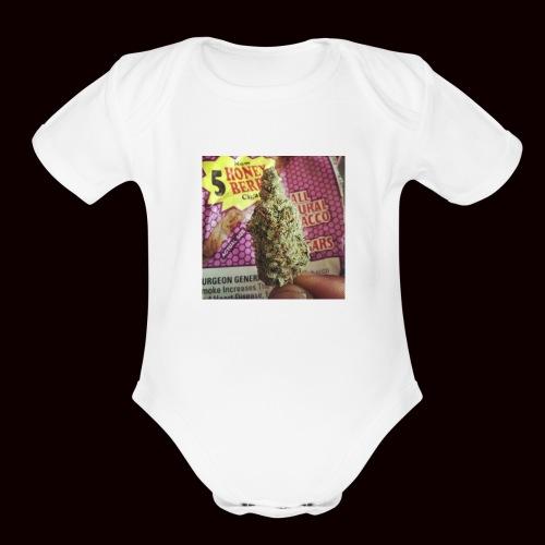 weed the best - Organic Short Sleeve Baby Bodysuit