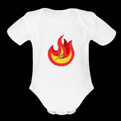 FireBrandV1 - Organic Short Sleeve Baby Bodysuit
