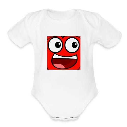 Cherry Gaming Logo - Organic Short Sleeve Baby Bodysuit