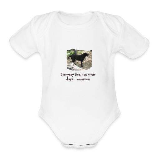 doggie - Organic Short Sleeve Baby Bodysuit