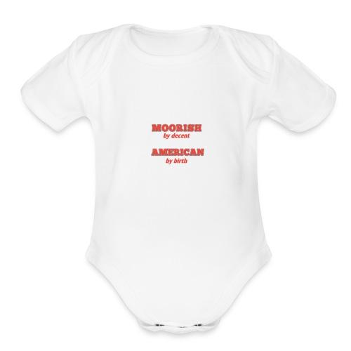 Moorish American - Organic Short Sleeve Baby Bodysuit