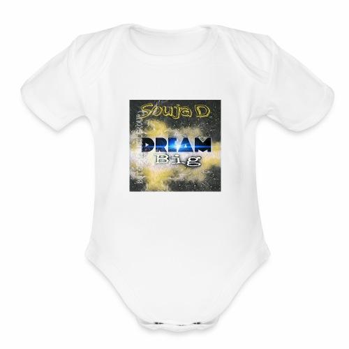 BIG DREAMS - Organic Short Sleeve Baby Bodysuit