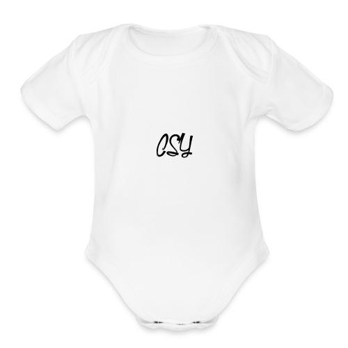 Csy OG Logo - Organic Short Sleeve Baby Bodysuit