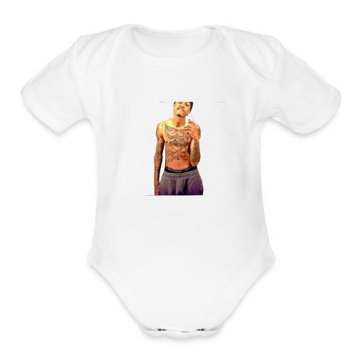 dammmmm - Organic Short Sleeve Baby Bodysuit