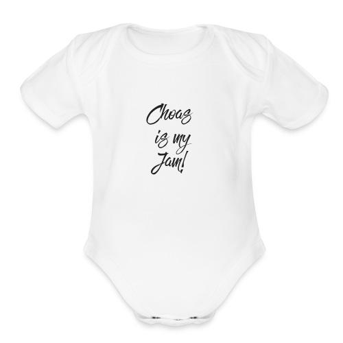 Choas is myJam - Organic Short Sleeve Baby Bodysuit