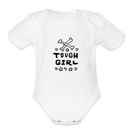 Tough Girl - Organic Short Sleeve Baby Bodysuit