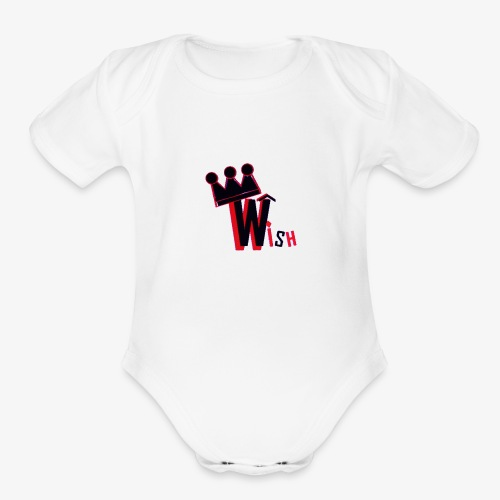 Wish Clan Logo - Organic Short Sleeve Baby Bodysuit