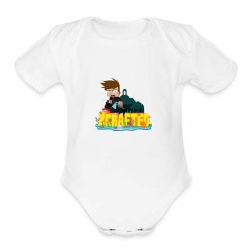 2Crafted Brand - Organic Short Sleeve Baby Bodysuit