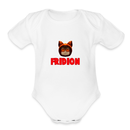 Fridion Button - Organic Short Sleeve Baby Bodysuit
