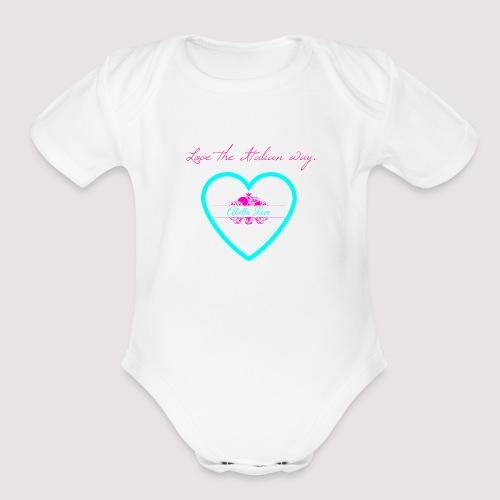 Love the Italian way - Organic Short Sleeve Baby Bodysuit
