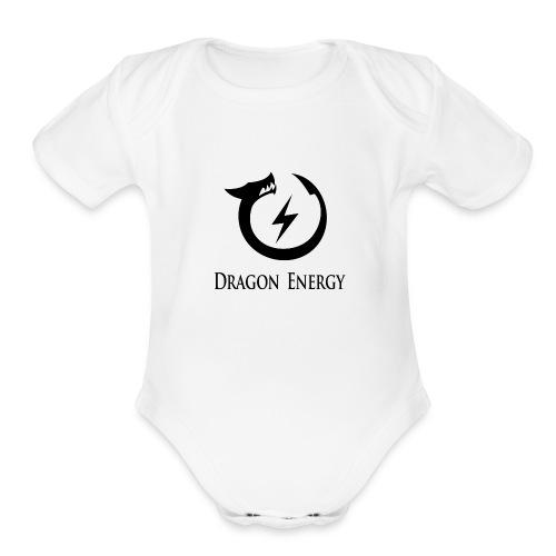 Dragon Energy (black graphic) - Organic Short Sleeve Baby Bodysuit