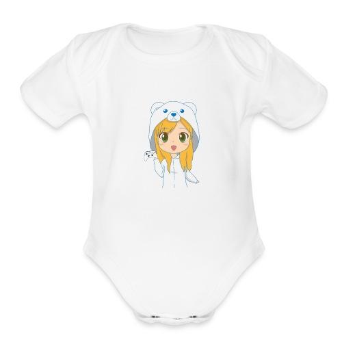 PowluhrBear - Organic Short Sleeve Baby Bodysuit