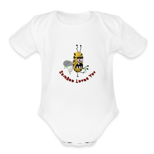ZomBee Loves You - Organic Short Sleeve Baby Bodysuit