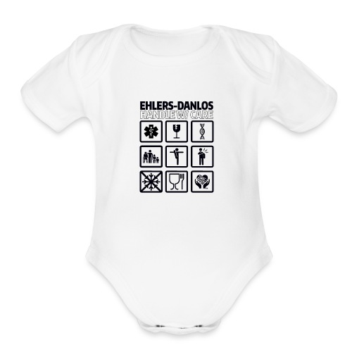 EDS AWARENESS – Handle With Care - Organic Short Sleeve Baby Bodysuit