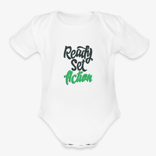 Ready.Set.Action! - Organic Short Sleeve Baby Bodysuit