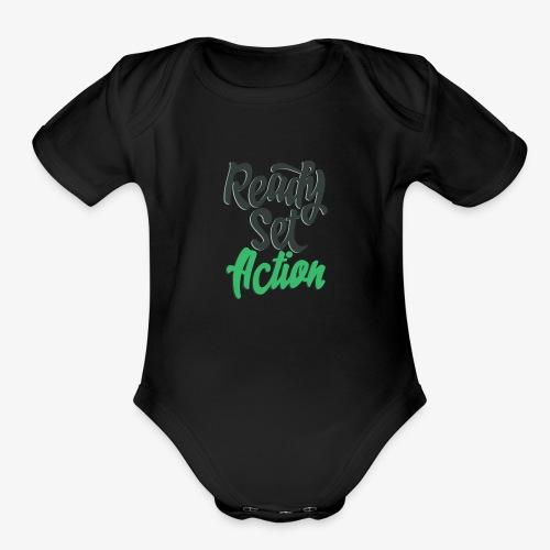 Ready.Set.Action! - Organic Short Sleeve Baby Bodysuit