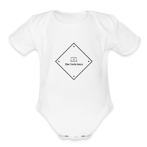 The Tech Guys Logo Dark - Organic Short Sleeve Baby Bodysuit