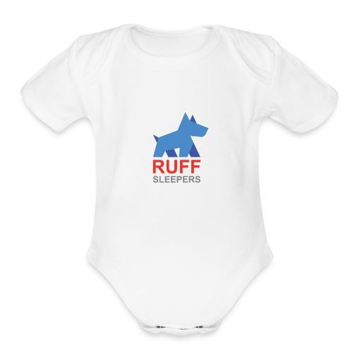 ruffsleepers logo 01 - Organic Short Sleeve Baby Bodysuit