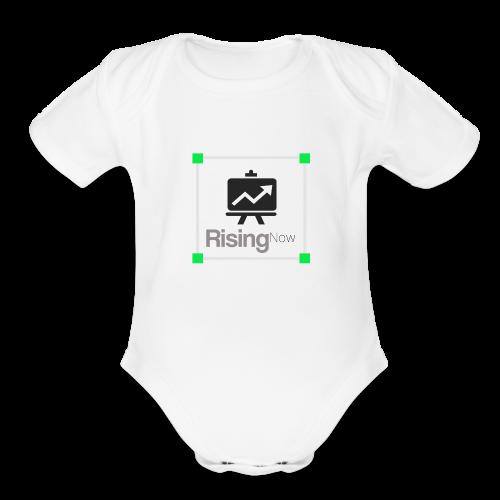 rising now - Organic Short Sleeve Baby Bodysuit