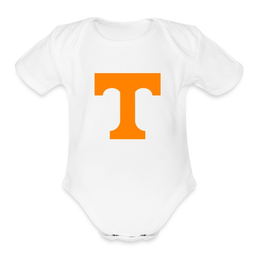 T is for Tennessee - Organic Short Sleeve Baby Bodysuit