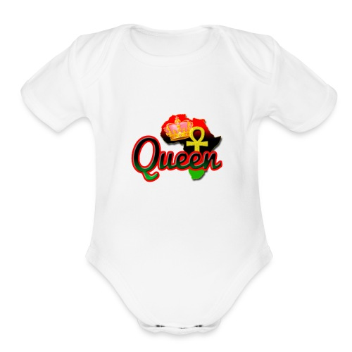 Queen Love - Organic Short Sleeve Baby Bodysuit