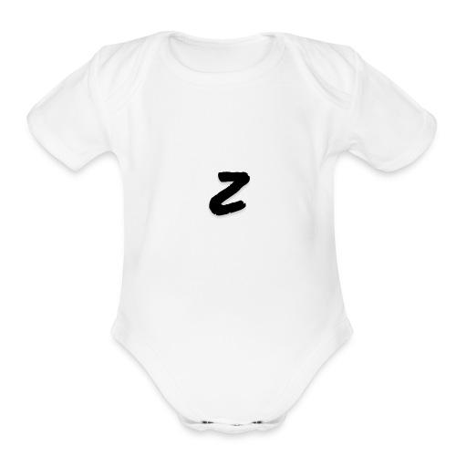 """Premium Zen07 """"Z"""" Logo - Organic Short Sleeve Baby Bodysuit"""