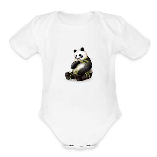 Hungry Panda - Organic Short Sleeve Baby Bodysuit