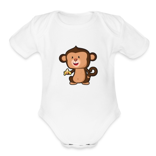 Baby Monkey - Organic Short Sleeve Baby Bodysuit