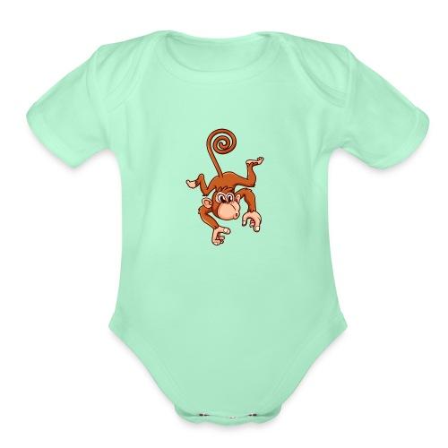 Cheeky Monkey - Organic Short Sleeve Baby Bodysuit