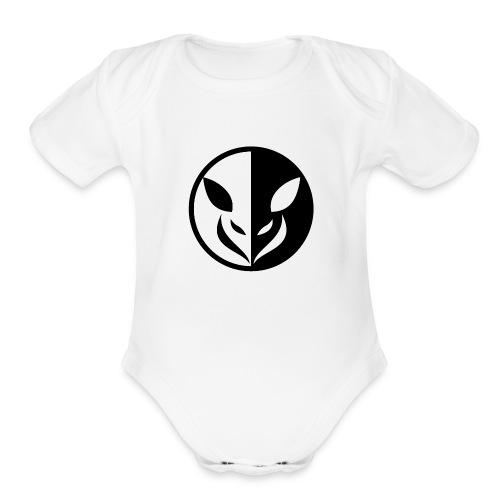 Small Animal Logo Illustration - Organic Short Sleeve Baby Bodysuit