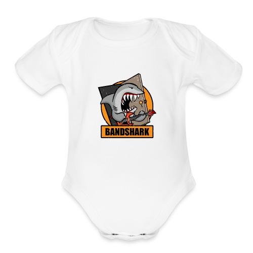 Bandshark - Organic Short Sleeve Baby Bodysuit