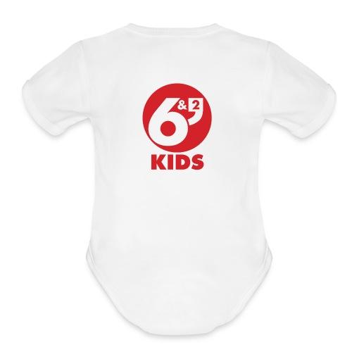 6et2 logo v2 kids 02 - Organic Short Sleeve Baby Bodysuit