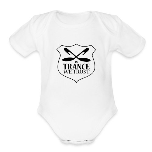 ITWT Transparent Logo Black - Organic Short Sleeve Baby Bodysuit