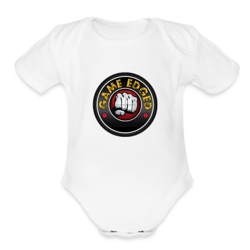 Men's Game Edged Logo Tshirt with So Be It On the - Organic Short Sleeve Baby Bodysuit