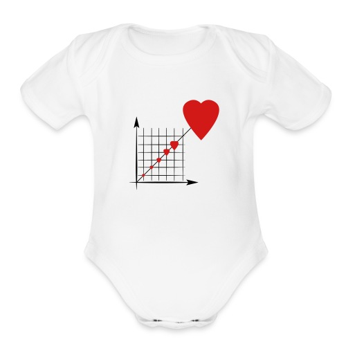 Love Diagram - Organic Short Sleeve Baby Bodysuit