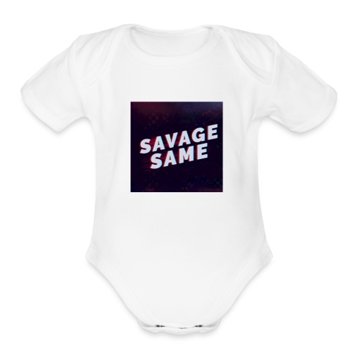Real Savage - Organic Short Sleeve Baby Bodysuit