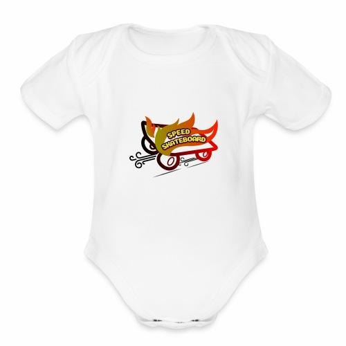 speed skateboard - Organic Short Sleeve Baby Bodysuit
