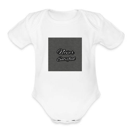 Slogan White Grey2 - Organic Short Sleeve Baby Bodysuit