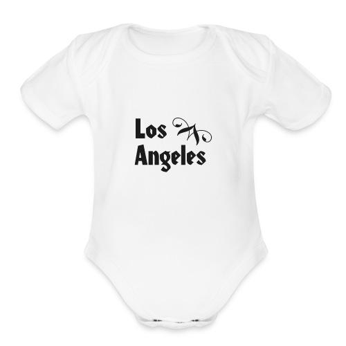 Los Angeles - L.A. California - Organic Short Sleeve Baby Bodysuit